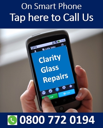Tap this button image to call Clarity Glass Repairs